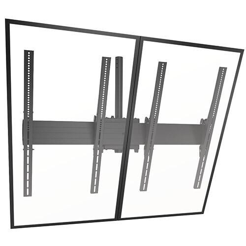 Chief LCM2x1UP 2x1 neigbare Videowall Deckenhalterungssystem, Hochformat, Schwarz (40
