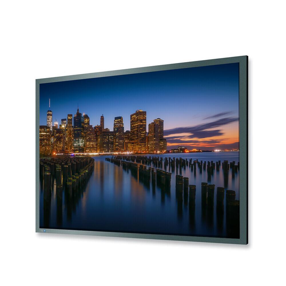 DELUXX Professional Rahmenleinwand Frame Pro 16:9 Mattweiss Vision Pro 184 x 103 cm