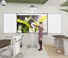 Sistema de pilones con alas para montaje en pared para proyector interactivo 188 x 130 cm