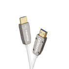 celexon UHD Optical Fibre HDMI 2.0b aktiv kabel, 10 m, vit