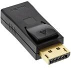 InLine DisplayPort Adapter, DisplayPort Stecker auf HDMI Buchse, 4K/60Hz, mit Audio, schwarz