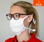 celexon Behelfs- Mund- und Nasenmaske Premium 100% Baumwolle mehrlagig ÖkoTex100 - mit Binder