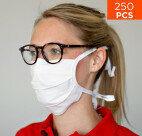 celexon mondkapje Premium 100% Katoen meerlaags ÖkoTex100 - 250 stuks