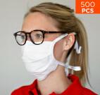 Masque de protection premium nez et bouche celexon 100% coton Oeko-Tex100 - Lot de 500 pièces
