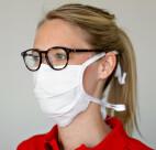 celexon Behelfs- Mund- und Nasenmaske Premium 100% Baumwolle mehrlagig ÖkoTex100 - 2er Pack - mit Binder
