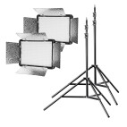 Walimex pro LED Versalight 500 Daylight 2er Set 2x Leuchte 2x Stativ