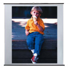 Ecran Reflecta au format paysage 180 x 180 cm