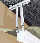 Projecta Deckenbügel M8, weiß