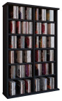 VCM CD / DVD Möbel Ronul - Schrank / Regal ohne Glastür in 7 Farben: schwarz