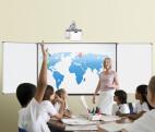 """Projektionstafel mit matter Tafeloberfläche, magnethaftend und trocken abwischbar 79"""" 1,60 x 1,20 m"""