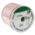 InLine cable de altavoz, 2 x 0,75 mm cuadrados, CCA, transparente, 100 m