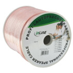 InLine högtalarkabel, 2x 1,5 mm², CCA, transparent, 100 m