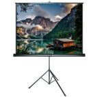 DELUXX Advanced schermo a treppiede 1:1 colore bianco opaco Polaro 203 x 203 cm