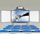 Cloudboard elektrisch höhenverstellbares System zur Wandmontage mit 2 Seitenflügeln und Bodenplatte (ohne Projektor)